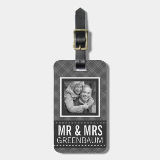 Photo Mr and Mrs Personalized Bag Tag