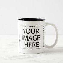 Photo mug - black and white 11oz template