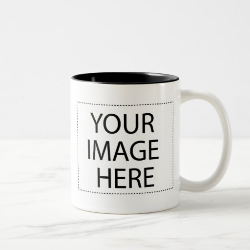 Photo mug - black and white 15oz template
