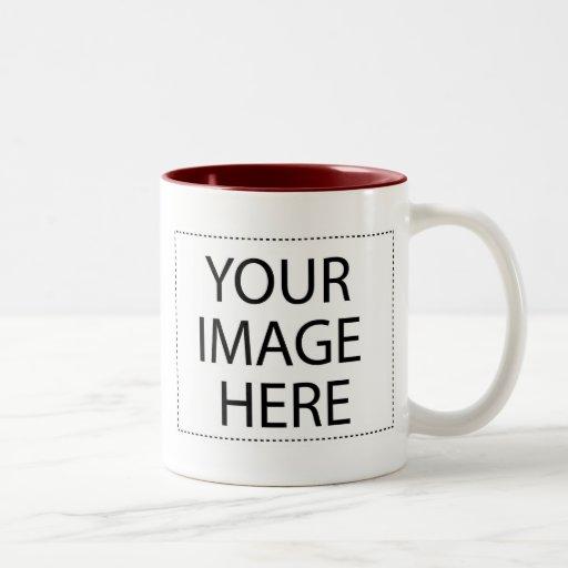 Photo mug - burgundy maroon template 15oz