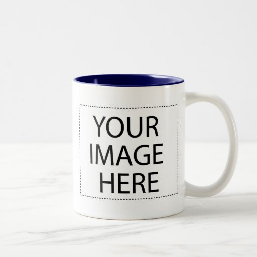 Photo mug - navy blue 15oz template