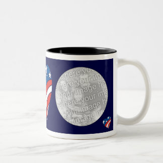 Photo Mug Template - Patriot Heart