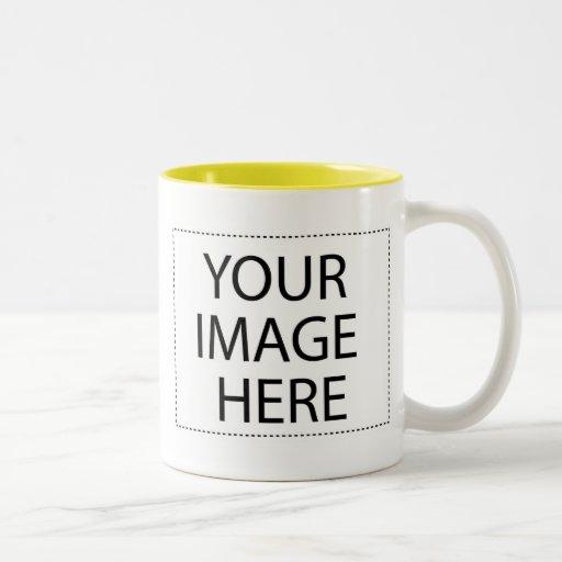 Photo mug - yellow two tone template 11oz