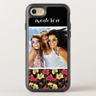 Photo & Name Elegant floral pattern 2 OtterBox Symmetry iPhone 7 Case