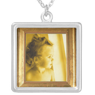 Photo Necklace - Wooden Frame