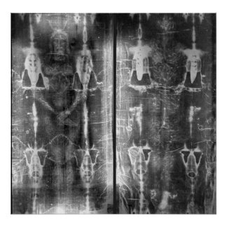 Photo Negative Picture of the Shroud of Turin Poster