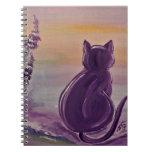Photo note book - Lavender Cat
