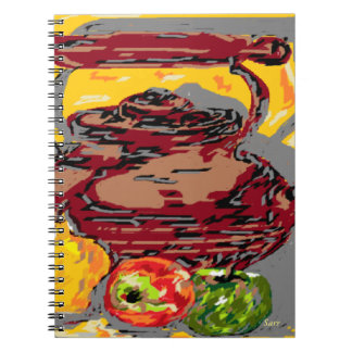 Photo Note Book Still Life Tea Kettle with Fruit