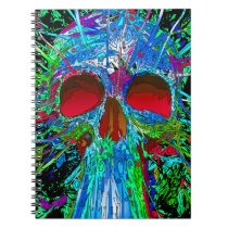 Photo Notebook/Funky Colorful Skull Notebook
