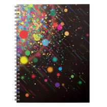 Photo Notebook/Multicolored Spheres and Lines Notebook