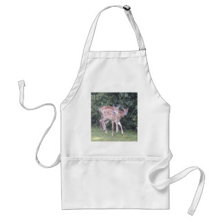 Photo of 2 cute fawns adult apron