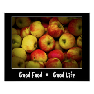 Photo of a Bushel Of Ripening Apples Poster