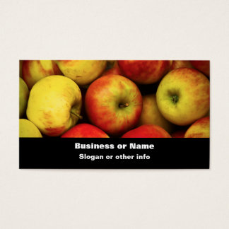 Photo of a Bushel Of Yellow and Red  Apples Business Card