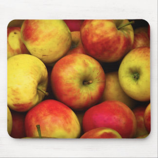 Photo of a Bushel Of Yellow and Red Apples Mouse Pad