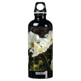 Photo of a Flower Bed of White and Gold Daisies Aluminum Water Bottle