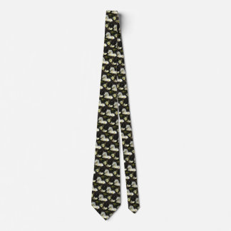 Photo of a Flower Bed of White and Gold Daisies Tie