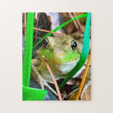 USA Themed Photo of a Frog Minnesota. Jigsaw Puzzle