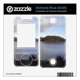 Photo of a Small Lake Motorola Rival Decal