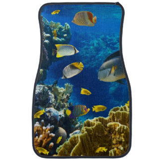 Photo of a tropical Fish on a coral reef Car Floor Mat