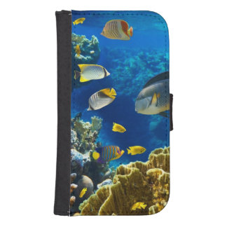 Photo of a tropical Fish on a coral reef Phone Wallets