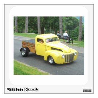 Photo of a vintage classic auto pickup truck wall sticker