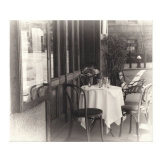Photo of an Outdoor Cafe in NYC Stretched Canvas Print