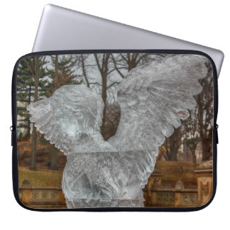 Photo of Angel Ice Sculpture in Central Park Laptop Computer Sleeves