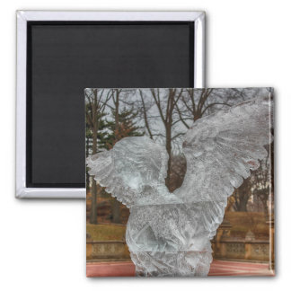 Photo of Angel Ice Sculpture in Central Park Magnets