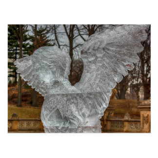 Photo of Angel Ice Sculpture in Central Park Postcard