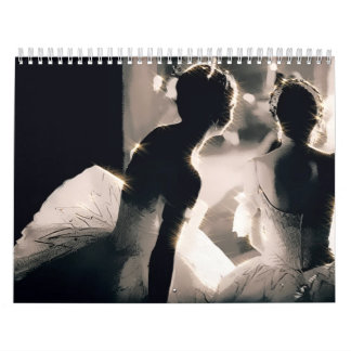 Photo of ballerinas on backstage calendar