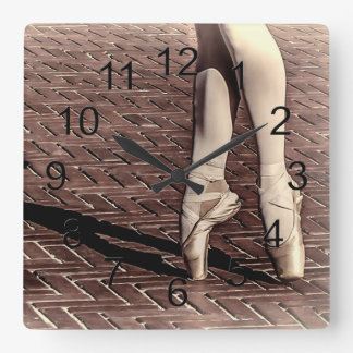 Photo of Ballet Slippers Square Wall Clock
