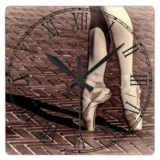 Photo of Ballet Slippers Square Wallclocks