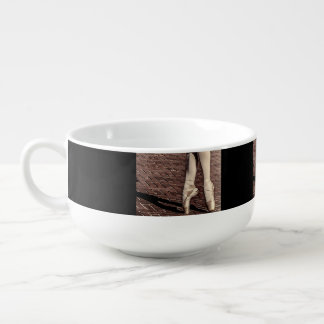 Photo of Ballet Slippers Soup Bowl With Handle