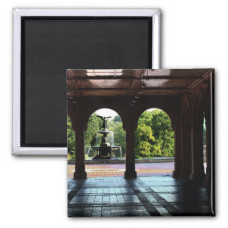 Photo of Bethesda Terrace in Central Park, NYC 2 Inch Square Magnet