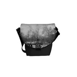 Photo of Central Park Winter Landscape Messenger Bag