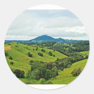 Photo of Cooroy Mountain, Queensland; Australia Round Stickers