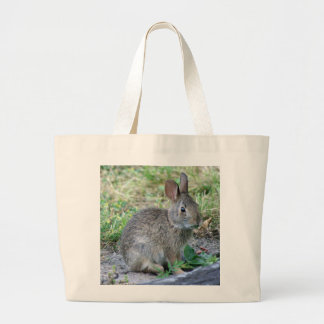 Photo of cute bunny large tote bag