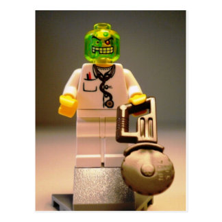 Photo of Doctor Toxic Custom Minifigure Postcard