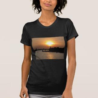 Photo of dramatic Sunset in Venice laguna, Italy T-Shirt