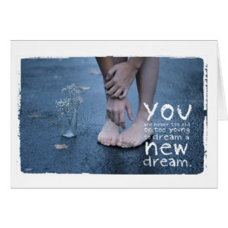 photo of girl in bare feet Greeting Card