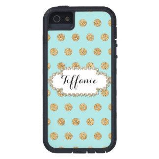 Photo of Gold Glitter Polka Dot Jewel Gem Frame iPhone SE/5/5s Case