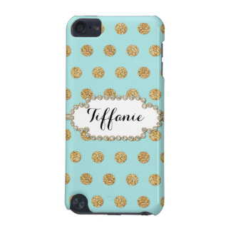 Photo of Gold Glitter Polka Dot Jewel Gem Frame iPod Touch (5th Generation) Cover