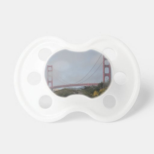 Photo of Golden Gate Bridge on a Sunny Day Baby Pacifier