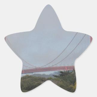 Photo of Golden Gate Bridge on a Sunny Day Star Sticker