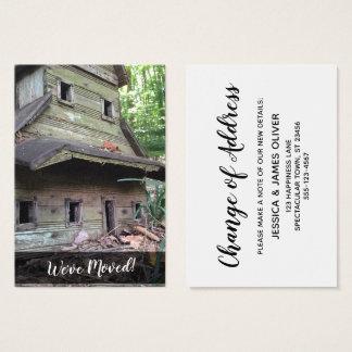 "Photo of Huge Old Birdhouse ""We've Moved"" Card"