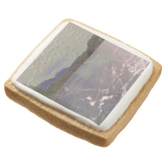Photo of lake with Texture Square Sugar Cookie