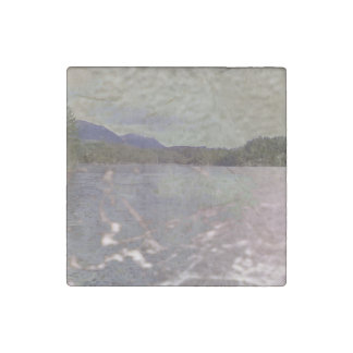Photo of lake with Texture Stone Magnet