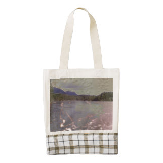 Photo of lake with Texture Zazzle HEART Tote Bag