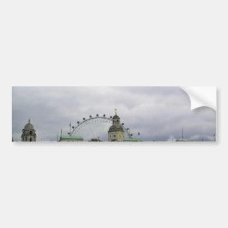 Photo of London with London eye in background Car Bumper Sticker
