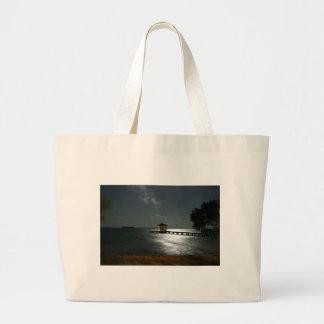 Photo of Moonlit Belize Cabana Large Tote Bag